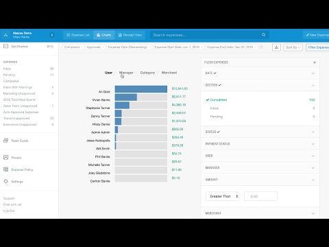 Abacus Expense Management Demo
