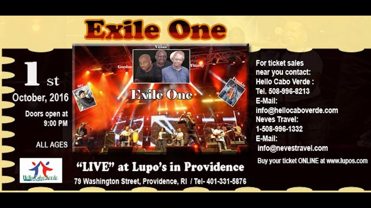 Exile One For The First Time In Providence Ri Usa Saturday Oct