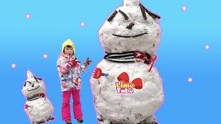 도전! 아빠랑 거대 눈사람 만들기 LimeTube 라임튜브