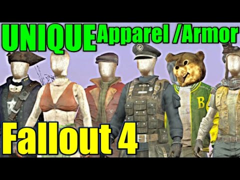 Fallout 4 - ALL Unique Apparel & Armor (Vanilla) | Re-Upload