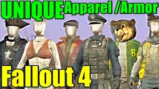 Fallout 4 - ALL Unique Apparel Armor Vanilla Re-Upload
