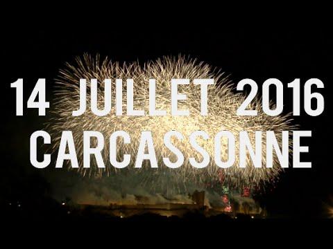 FEU D'ARTIFICE | CARCASSONNE  - 14 JUILLET 2016 [HD]