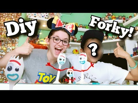 diy-forky-from-disney-pixar-toy-story-4!-with-special-guest!
