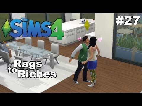 THE SIMS 4: FIRST KISS!! - Rags to Riches #27