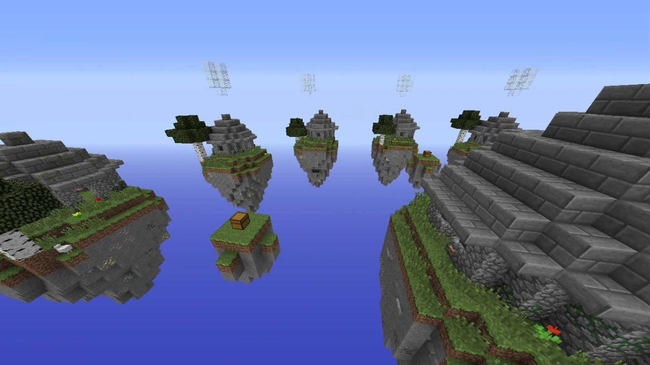 Wallpaper Minecraft 3d Mapa Server Skywars 1 Descarga Youtube