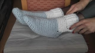Crochet Socken häkeln, Reliefmuster Teil 1/3  Skarpety na szydelku