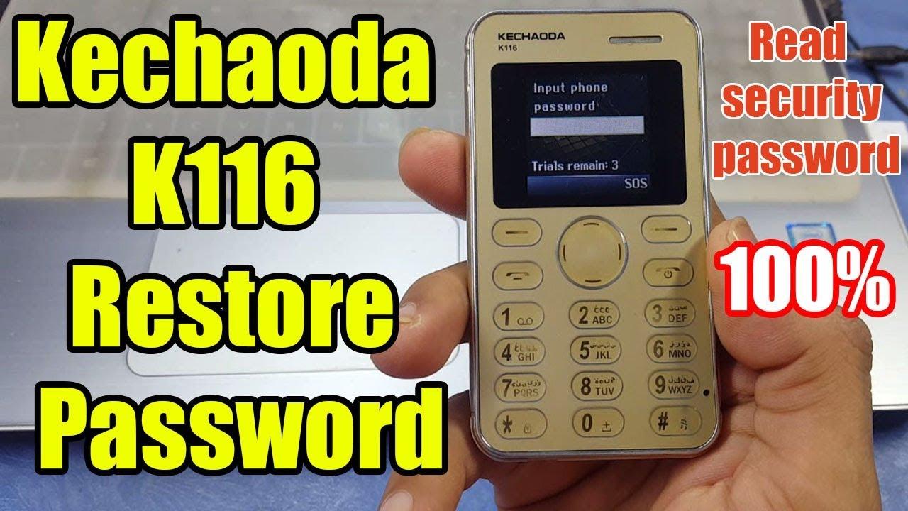 Kechaoda K116 Password Reset || Read security password