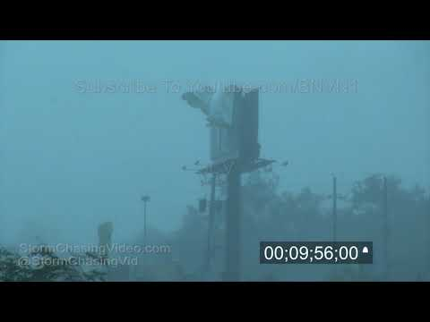 Category 5 Hurricane Michael, Stock Footage Master from Panama City - 10/10/2018