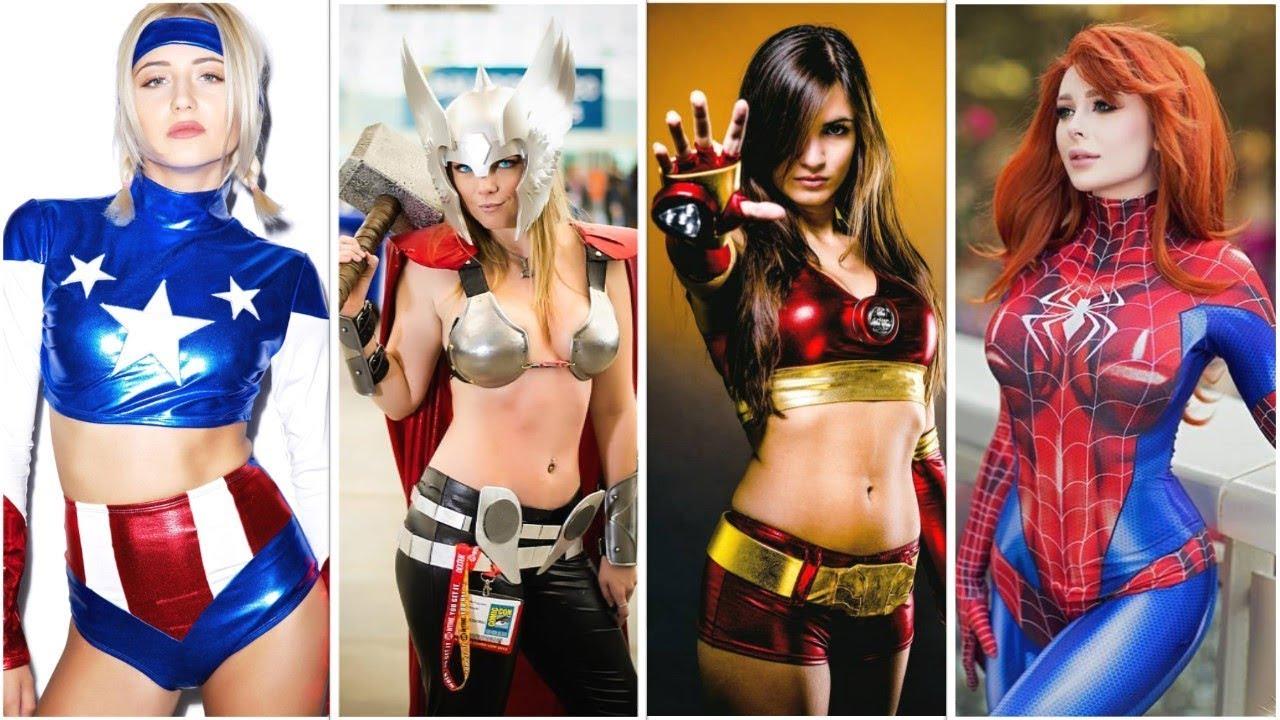 Have superhero costume slut all became