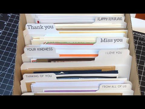 Greeting card box storage youtube greeting card box storage m4hsunfo