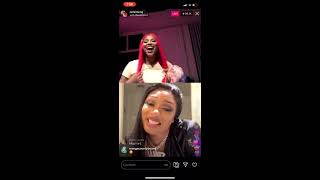 Nicki minaj meets megan for the first time after she accepts her request to go live on instagram. two discuss being in college, writing lyrics, and possi...