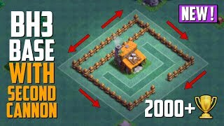 Clash of Clans AMAZING Builder Hall 3 (BH3) Base with 2 Cannons | BEST Builder Base level 3