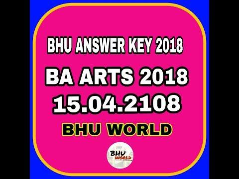 Answer key bhu ba arts 2018  entrance