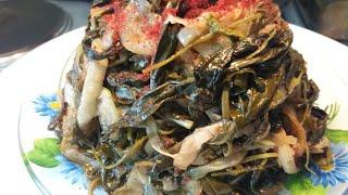 Корейский салат ЖАРЕНЫЙ ТЯЙМИТИКЕ Повышает аппетит Очень вкусно