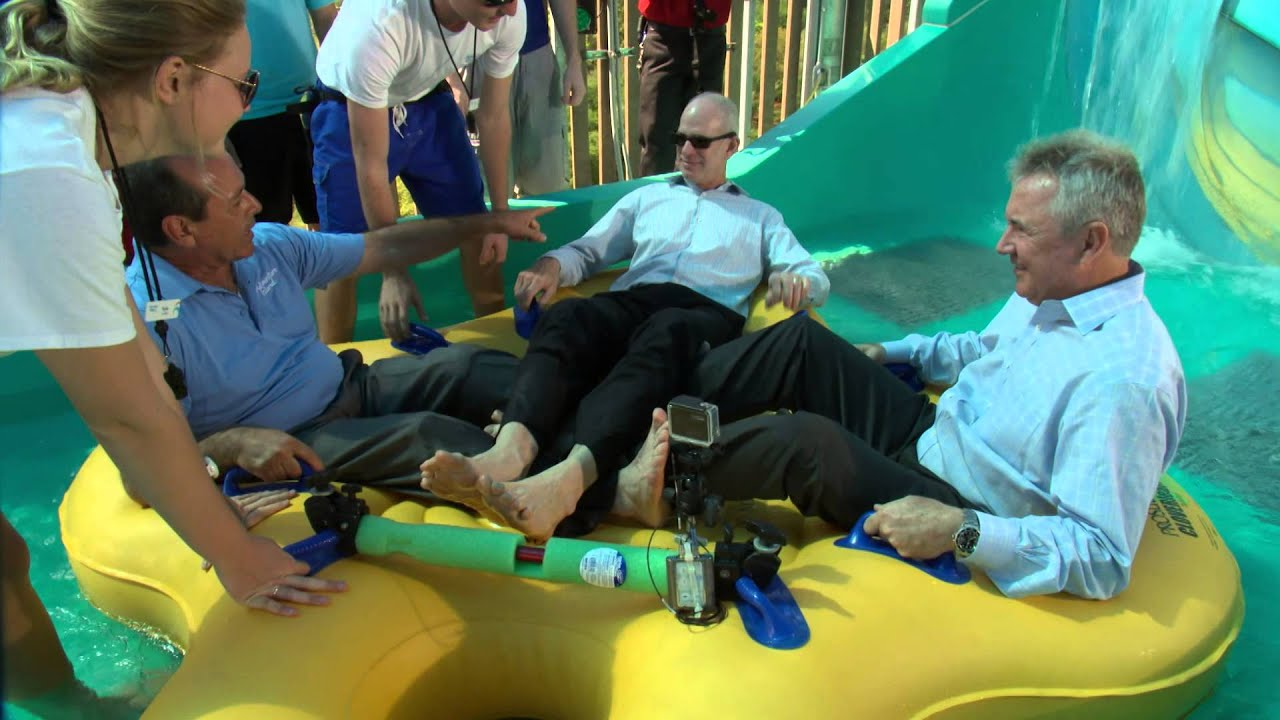 Adventure Island Tampa: Park President Rides Colossal Curl
