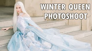 I modeled as a winter queen!