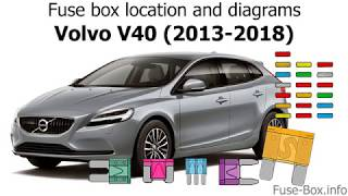 Fuse box location and diagrams: Volvo V40 (2013-2018) - YouTube | Volvo V40 Fuse Box Location |  | YouTube