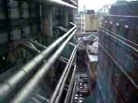 Riding up the Elevator of Lloyd's of London