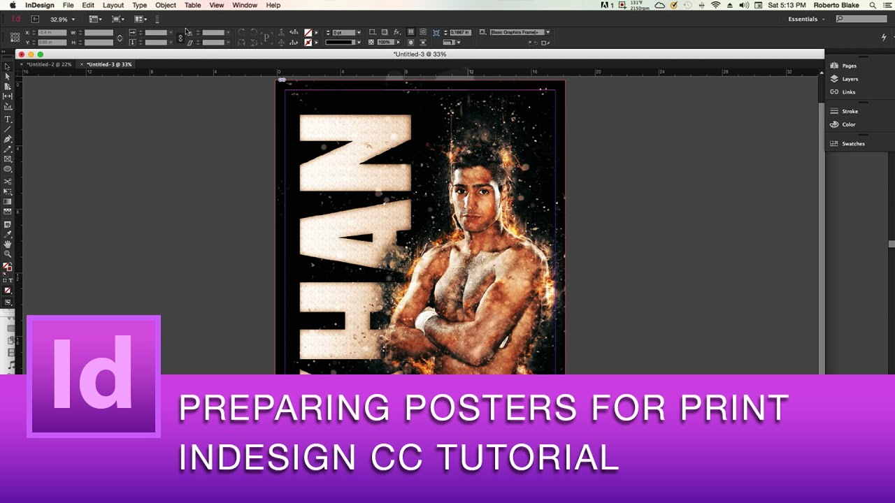 Poster design in indesign - Indesign Cc Tutorial How To Prepare Posters For Print