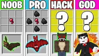 Minecraft Battle: VAMPIRE MONSTER CRAFTING! NOOB vs PRO vs HACKER vs GOD in Minecraft Animation