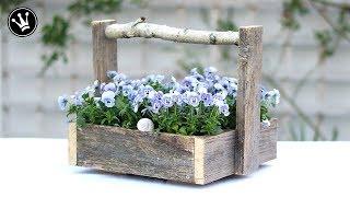 DIY - Kiste mit Griff aus altem Holz selber machen | Upcycling | Geschenkidee für Muttertag | How to