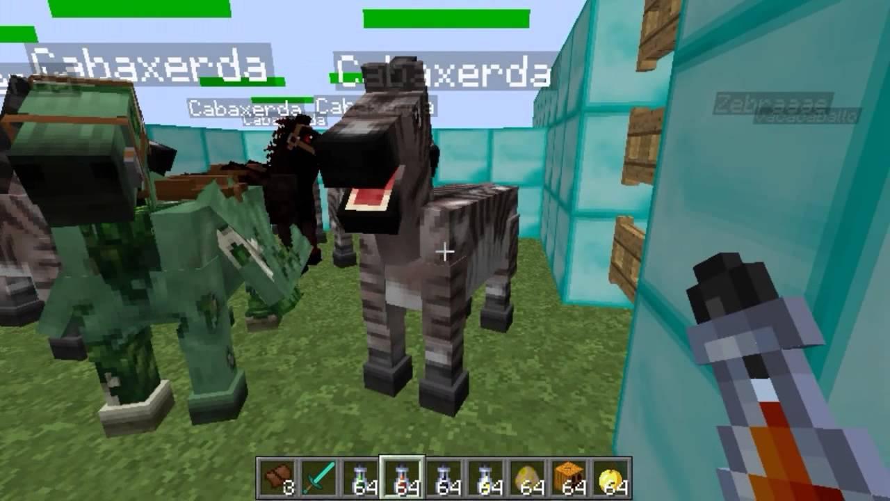 Como hacer un caballo vaca pegaso unicornio En Minecraft 162 y