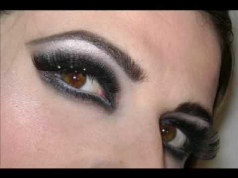 maquillaje en blanco y negro dramatic look