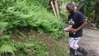 Homemade grass cutter in Mati Calapagan, Davao Oriental