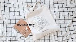 DIY Aesthetic Tote Bag ( Easy + Cheap) Pastel Julia