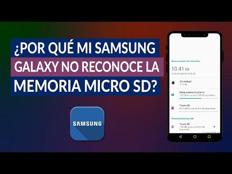 ¿Por qué mi Samsung Galaxy no Reconoce la Memoria Micro SD? - Solución