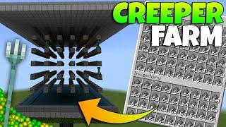 ✅ BEST SIMPLE Minecraft Bedrock Creeper Farm Tutorial | MCPE Creeper Farm Tutorial | Working 1.16
