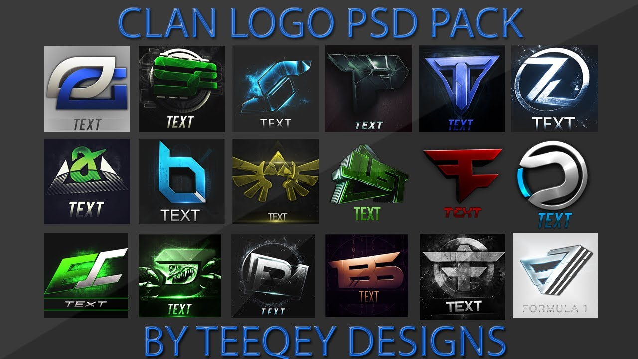 teeqeyhd u0026 39 s logo psd pack