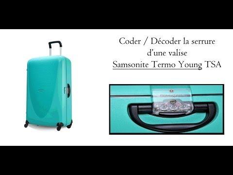 Coder la serrure d'une valise Samsonite Termo Young TSA