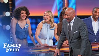 Imma do my HAIR before I go in THERE! | Celebrity Family Feud