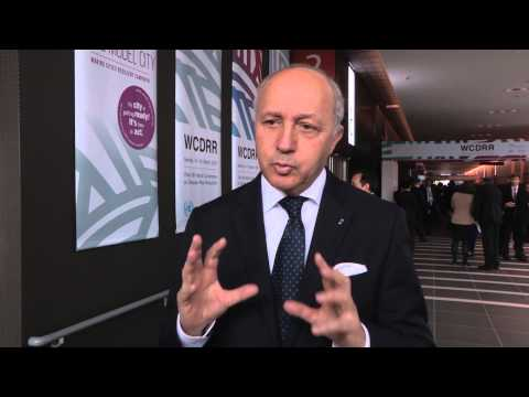 WCDRR Interview French Foreign Minister