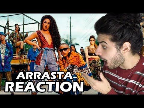 Gloria Groove - Arrasta feat Léo Santana REACTION  Reação e comentários