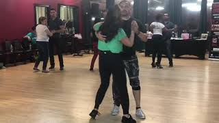 David Herrera and Anya Fuchs of DWTS teaching a bachata tango fusion @ 2155 Carrollton, TX 8/18/19