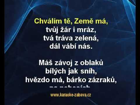 Karaoke klip Chválím tě země má - Jaroslav Uhlíř