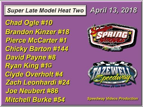 Spring Nationals Heat 2 @ Tazewell Speedway April 13, 2018