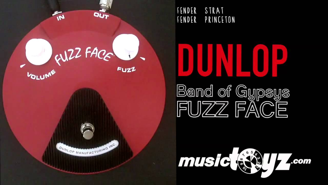 dunlop band of gypsys fuzz face distortion guitar fuzz youtube. Black Bedroom Furniture Sets. Home Design Ideas