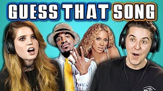 college kids guess that song challenge 2000s songs ft echosmith react