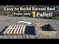 How to Build a Raised Bed from 1 Pallet! (FREE and Easy)