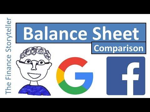 Balance sheet comparison Alphabet Inc (Google) vs Facebook