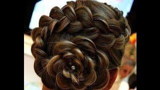 видео Плетение кос цветком