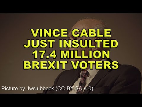 ❗️Vince Cable Insults 17.4 Million Brexit Voters❗️