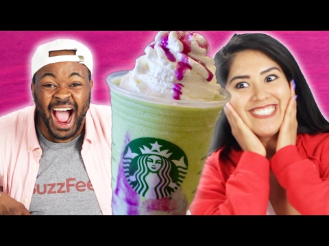 People Try The New Starbucks Dragon Frappuccino