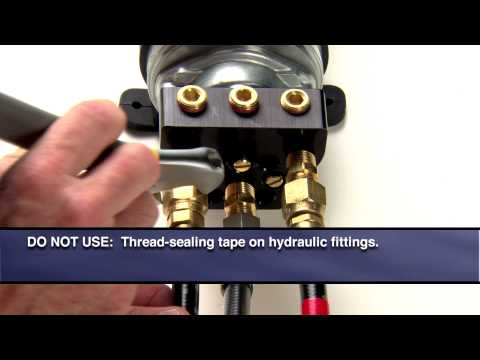 Installation of GHP™10 hydraulic components - YouTube on