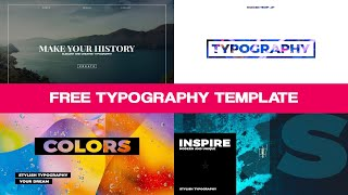 Free Typography Template For After Effects