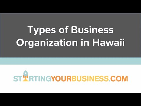 Types of Business Organization in Hawaii - Starting a Business in Hawaii
