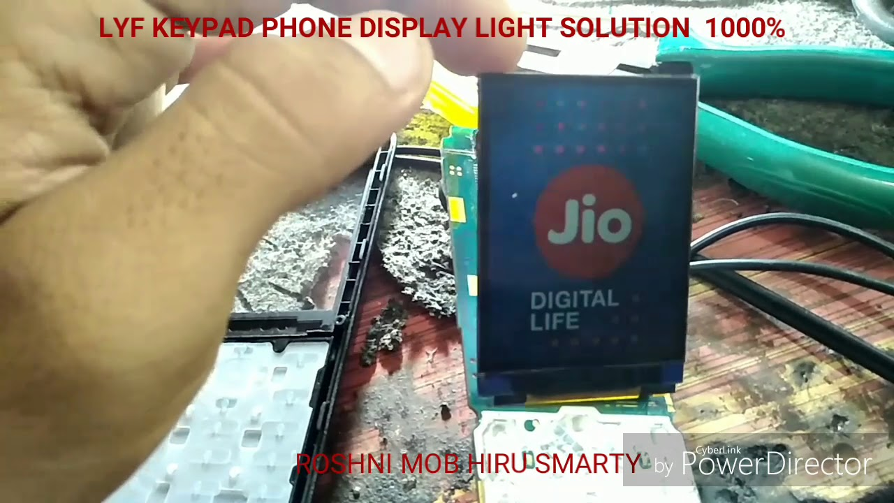 Lyf jio keypad phone display light solution 1000%